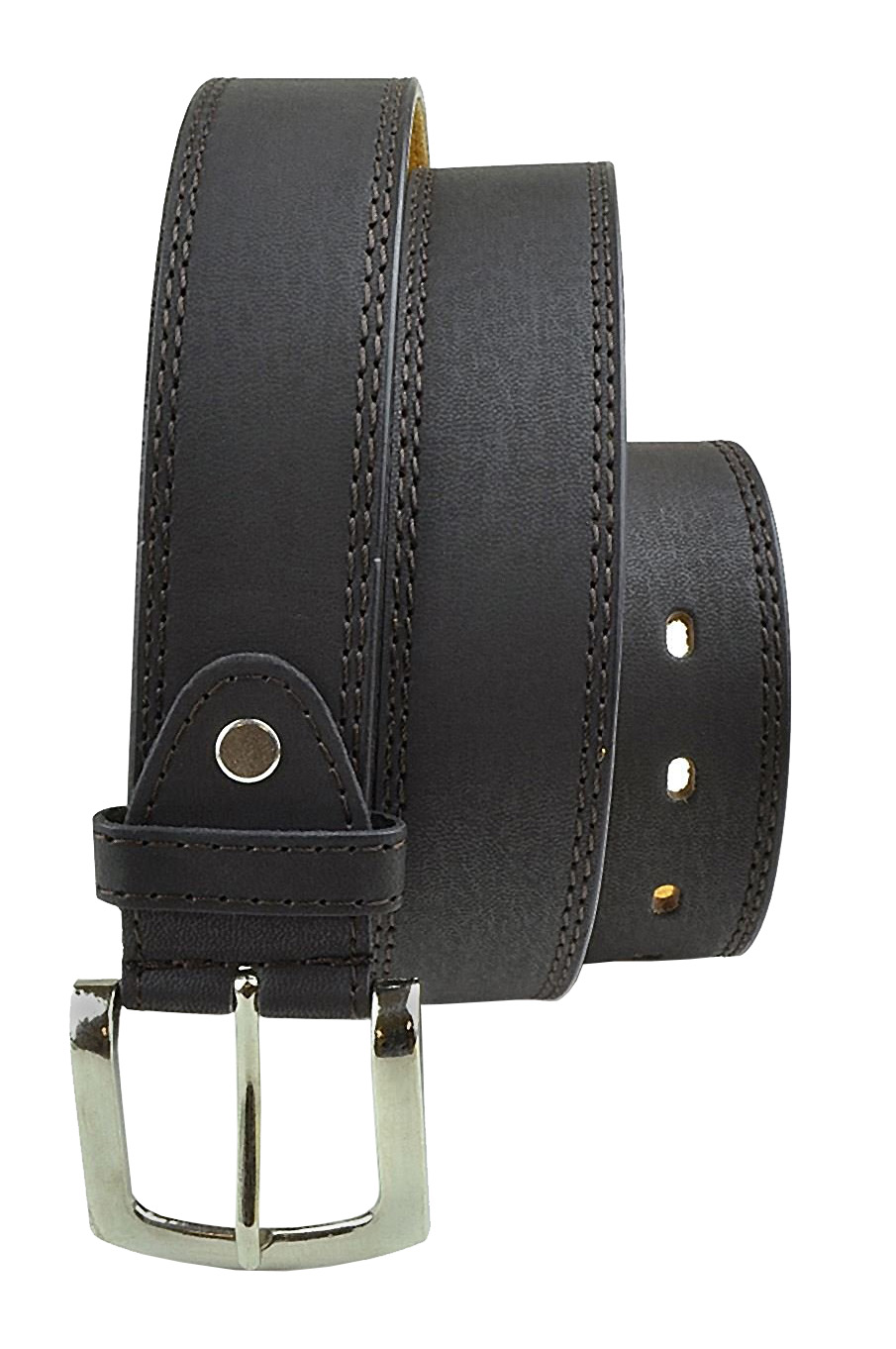 Men's Genuine Leather Belt in Versatile Casual or Formal Style - Brown/M
