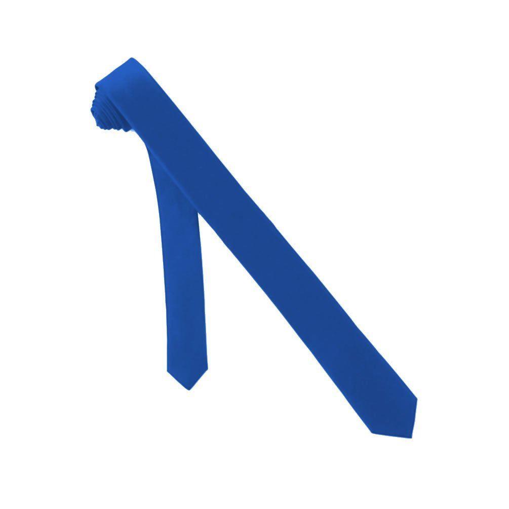 Jacob Alexander Solid Color Men's Skinny Tie - Royal Blue