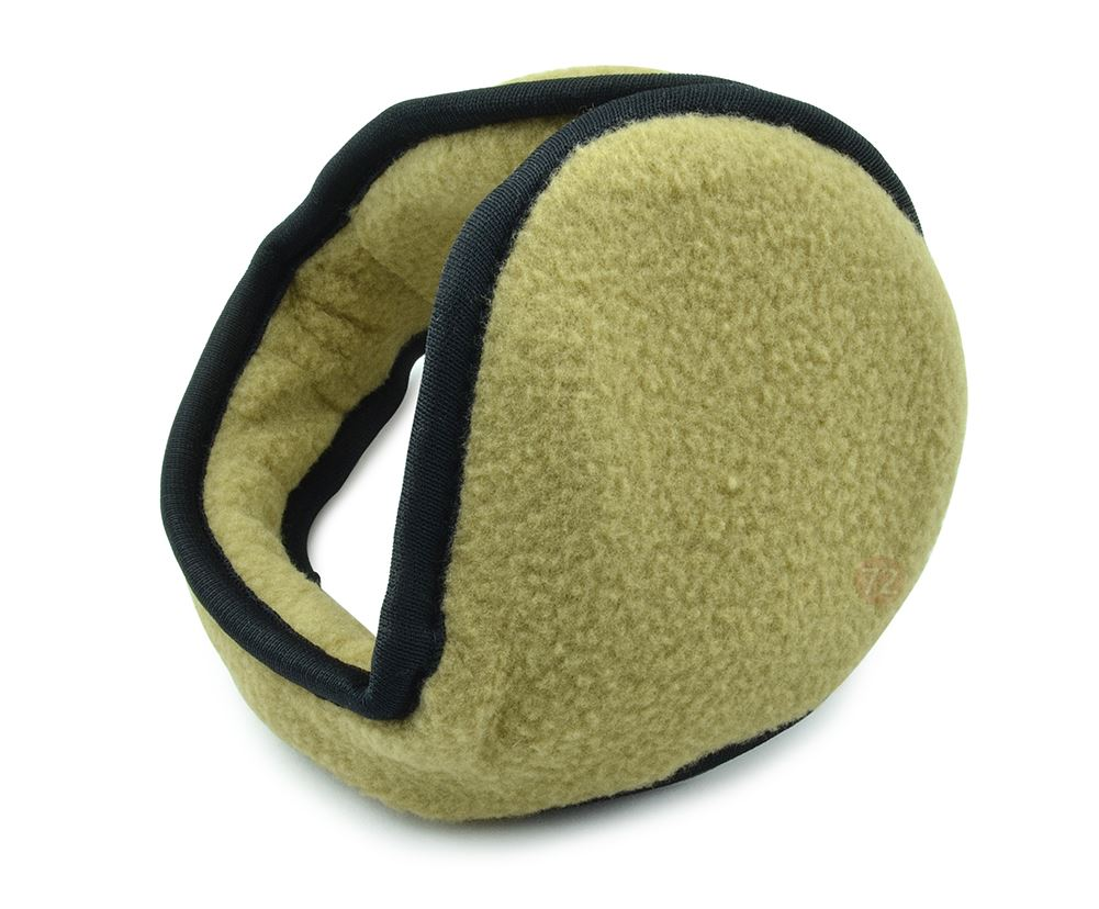 Unisex Ear Warmers - Foldable Fleece Behind the Head Polar Fleece EarMuffs - Tan