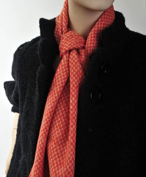 Bright Unisex 100% Wool Scarf Orange