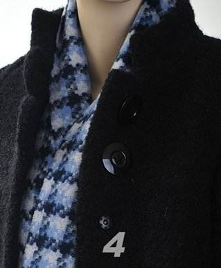 Unisex Premium 100% Wool Scarf Blue