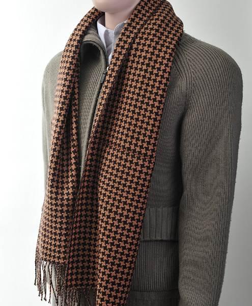 Unisex Premium 100% Wool Scarf Brown