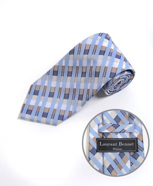 Skyscraper Micro Fiber Woven Tie Blue