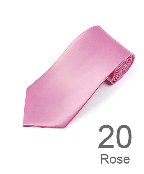 BG Solid Color 100% Silk Tie, Rose