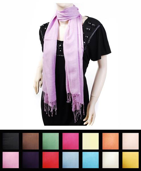 Solid Color Viscose Scarf, Light Purple