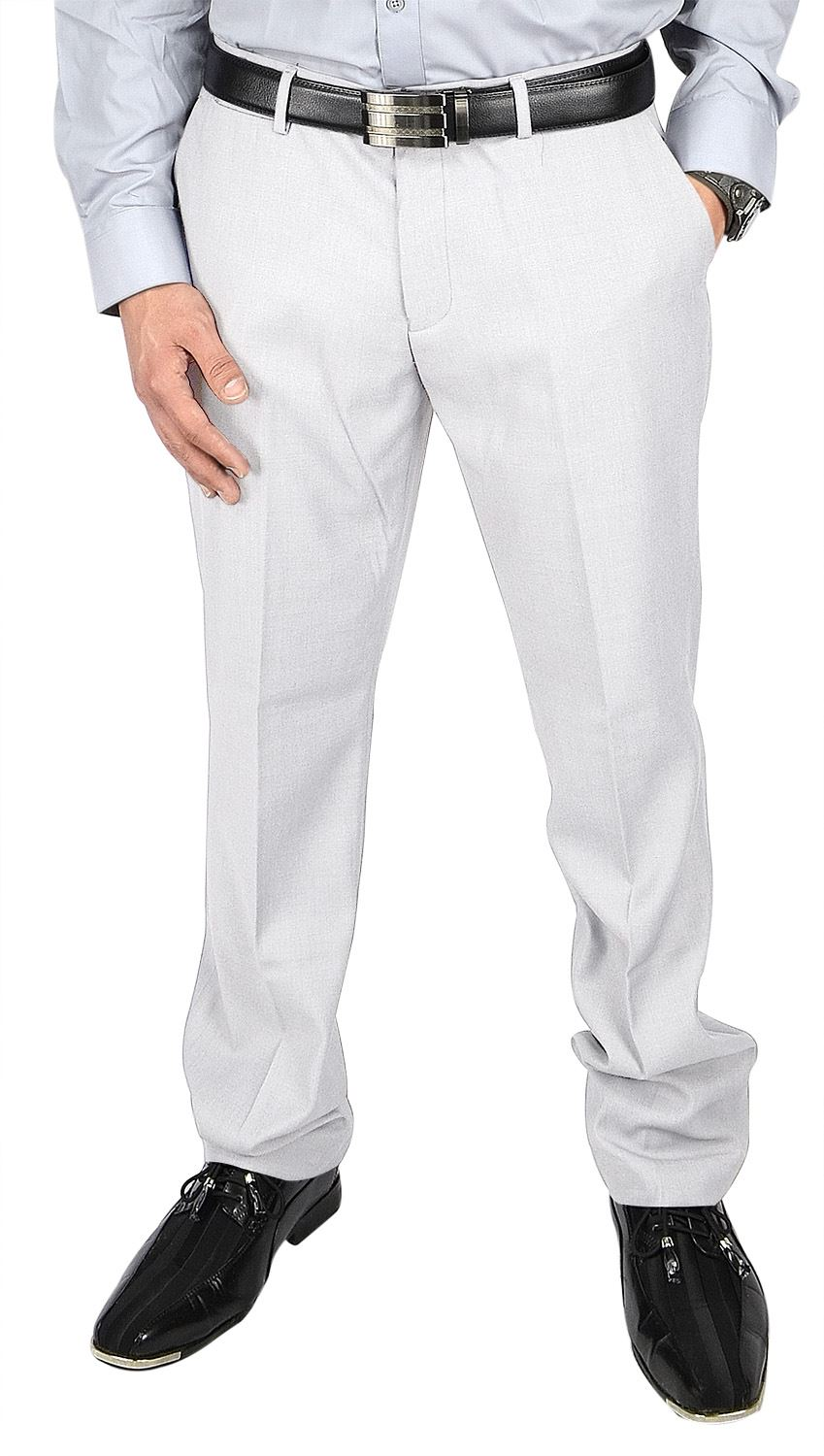 Moda Di Raza- Men's Pants Fashion Formal Business Wedding Dress Pants - White - Size -32x30
