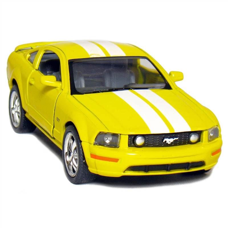 Yellow Ford Mustang GT, Pull Back n Go Action.