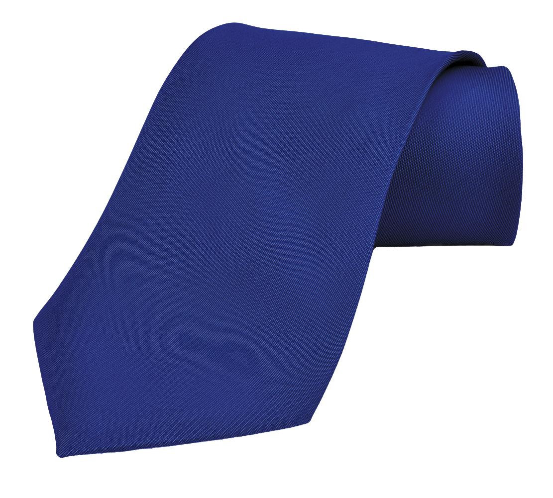Dabung- Men's Necktie Solid Colors, Men Fashion Tie Polyester Ties 57 x 3.5 in - RoyalBlue