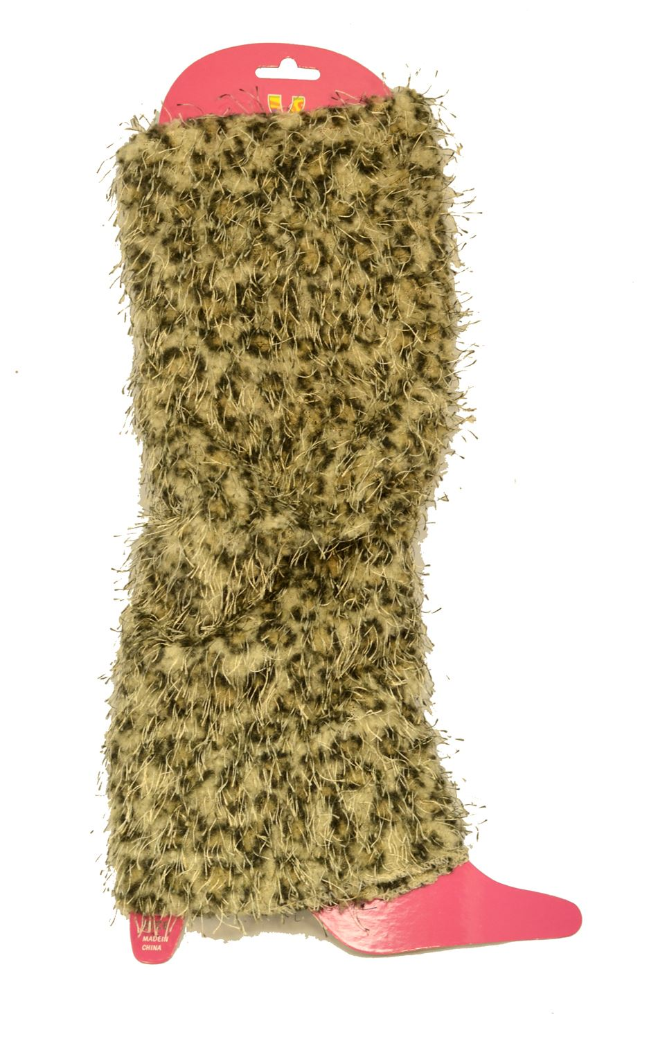 Lady's Fashion The Leopard Beige Designed Leg Warmer