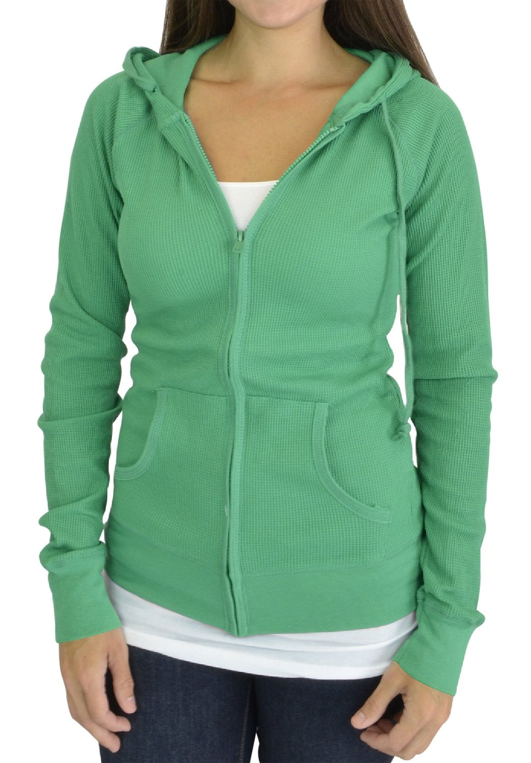 Belle Donne - Hoodies For Women With Dolman Style Sleeves Drawstring SweatShirt - Green-TS/Small