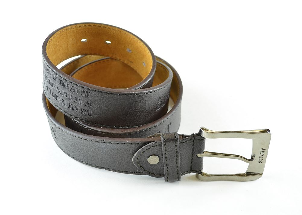Moda Di Raza-Men Leather Belt - Jean Dress Belt With Buckle Desginer Inspired - Brown-V/Large