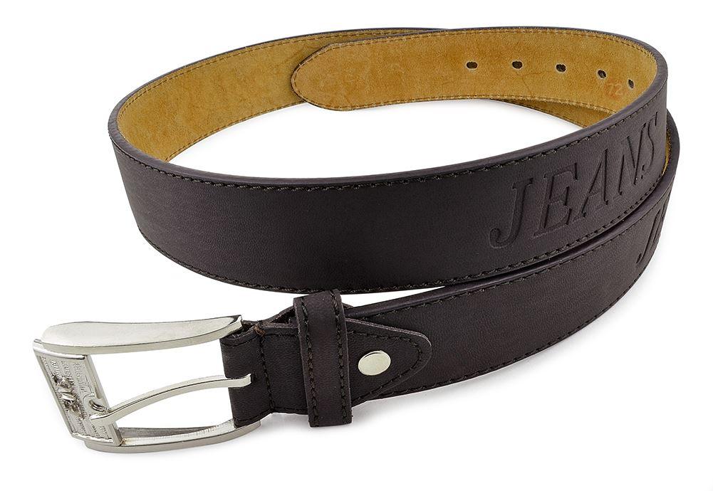 Moda Di Raza-Men Leather Belt - Jean Dress Belt With Buckle Desginer Inspired - Brown-IV/Large