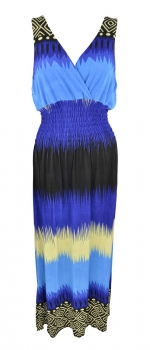 MW-DRESS-V-NECK-LONG-Dress3281-BLU/L