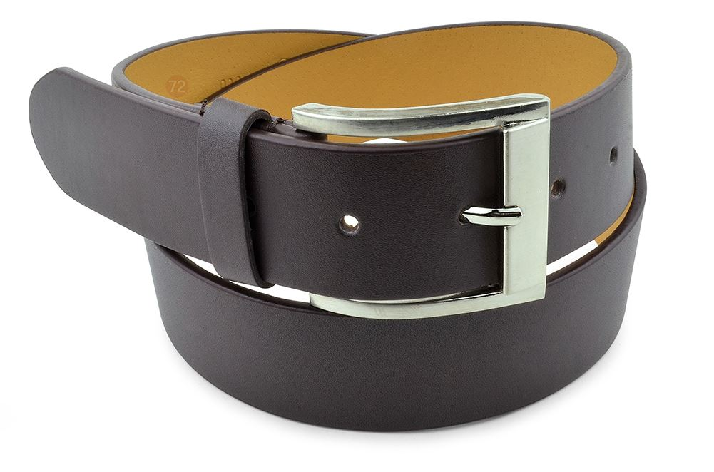 Moda Di Raza-Men Leather Belt - Jean Dress Belt With Buckle Desginer Inspired - Brown/Large
