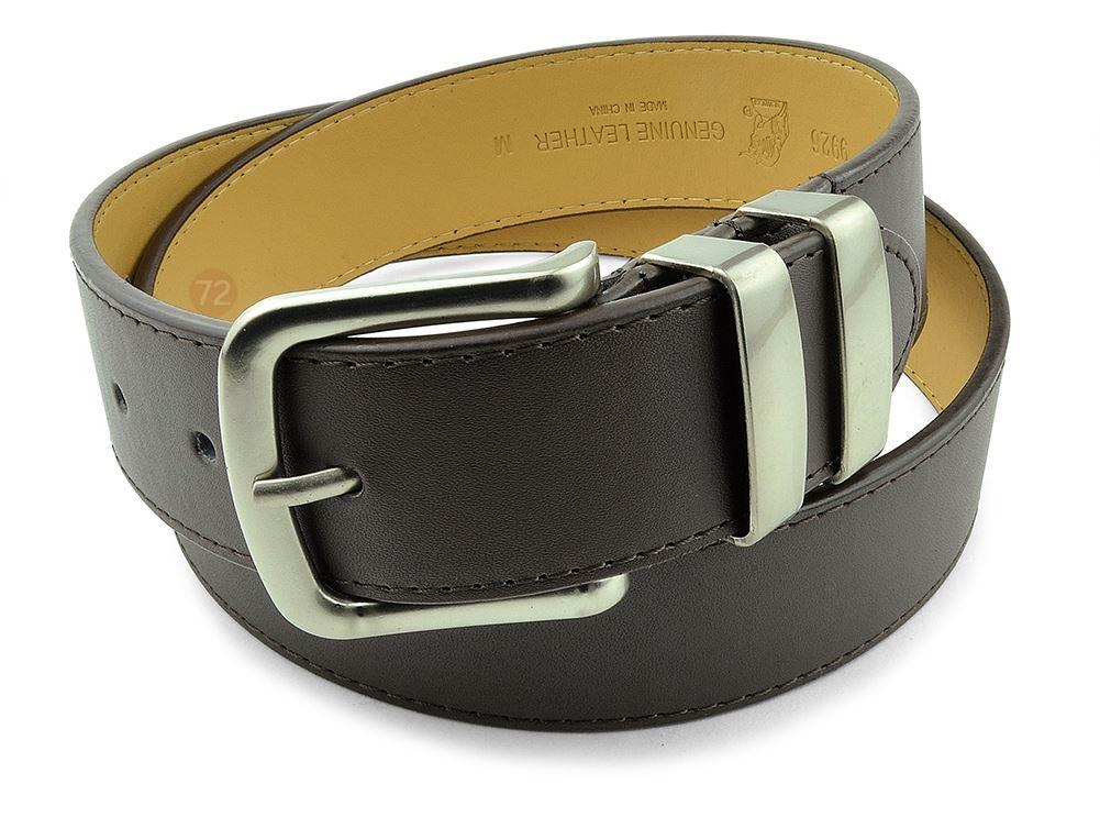 Moda Di Raza-Men Leather Belt - Jean Dress Belt With Buckle Desginer Inspired - Brown-I/Large