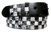 BBT-BELT-7006-Black-White/XL
