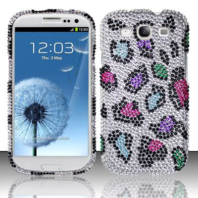 For Samsung Galaxy S3 III i9300 - Full Diamond Cover - Colorful Leopard FPD