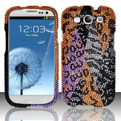 For Samsung Galaxy S3 III i9300 - Full Diamond Cover - Orange Safari FPD