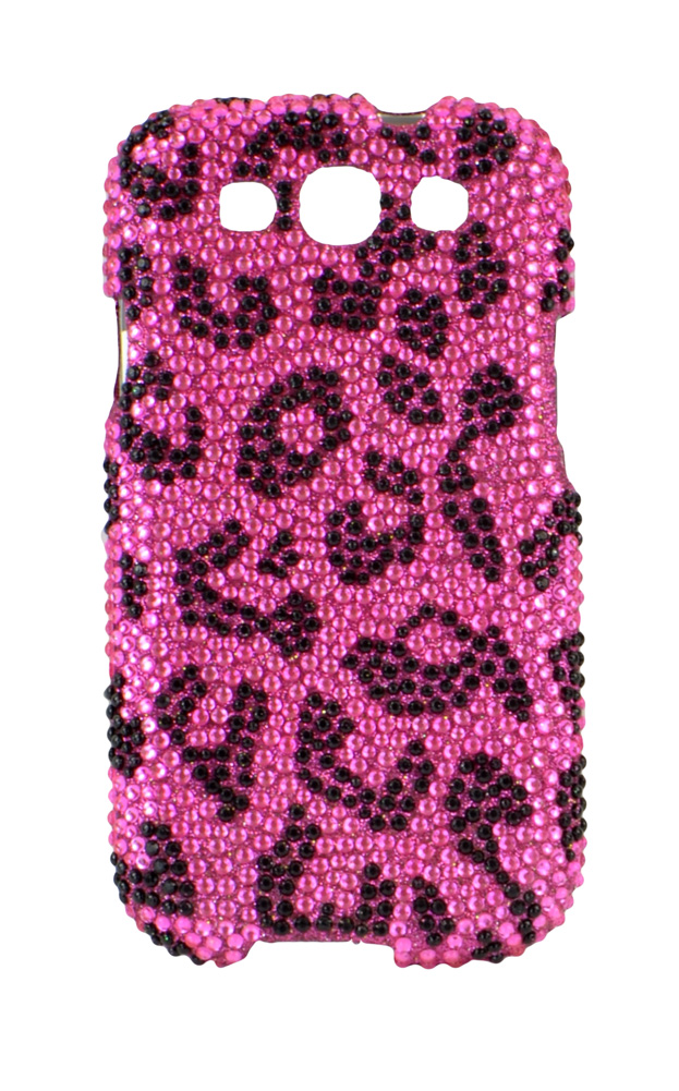 For Samsung Galaxy S3 III i9300 - Full Diamond Cover - Pink Leopard FPD