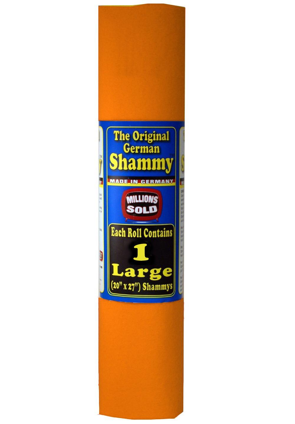 1 Orange Original German Shammy