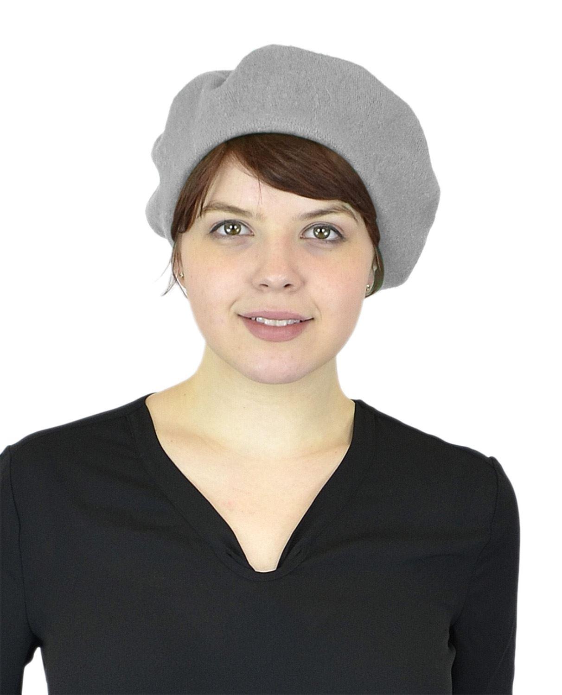 Belle Donne - Women's Soft Wool Classic Style Beanie Hat Cap - Light Grey