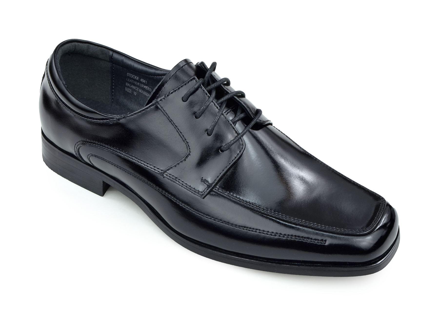 Moda Di Raza - Men's Oxford Lace Dress Shoes Sleek Trendy Light Shine - Black/10