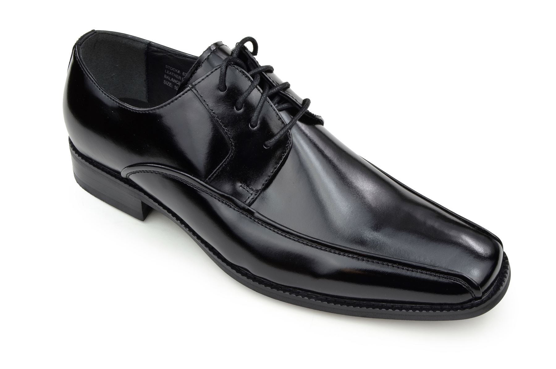 Moda Di Raza - Men's Oxford Lace Dress Shoes Sleek Trendy Light Shine - Black/10.5
