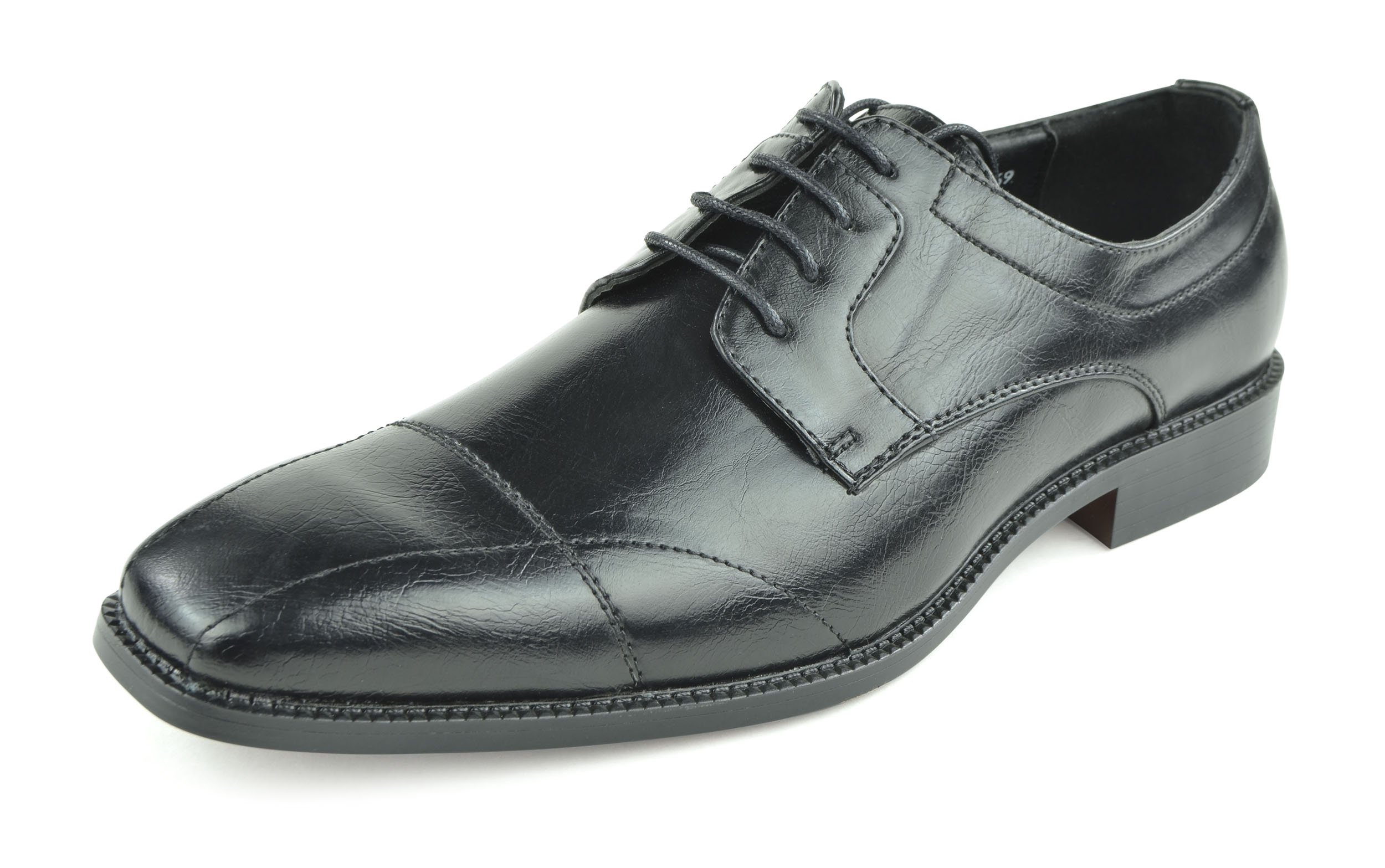 Moda Di Raza - Men's Oxford Lace Dress Shoes Sleek Trendy Light Shine - Black/10