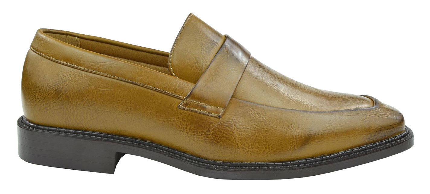 Moda Di Raza - Men's Classic Slip On Loafer Shoes - Camel - 6570/ Size: 10