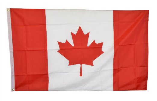 Shop72 Printed Polyester Flags - National Countries - 100D-3X5 - Canada