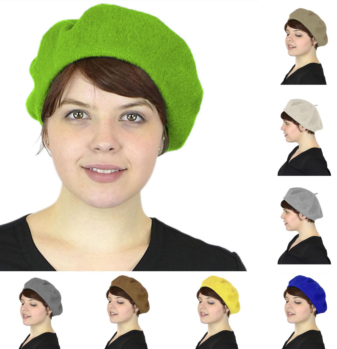 Belle Donne - Women's Artist Beret Soft Wool Classic Style Beanie Hat Cap