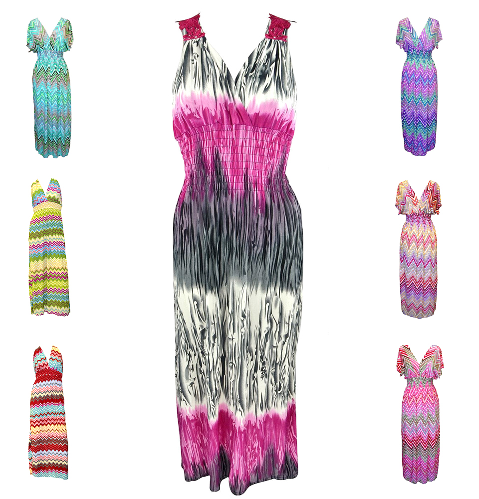 Belle Donne - Women Summer Dress Maxi Dress Surplice Long Dresses Plus Size