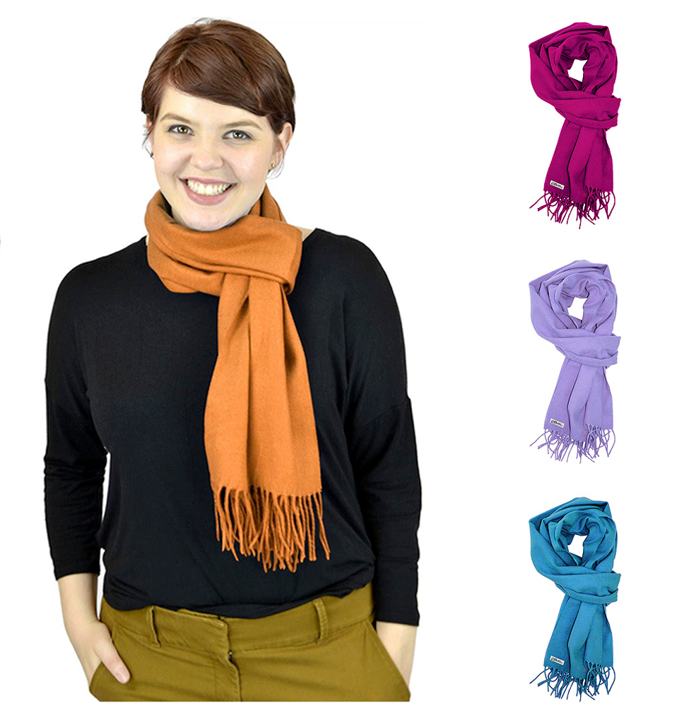 Belle Donne Women Scarves Girls Scarf Cashmere Feel Scarves Winter Solid Scarves