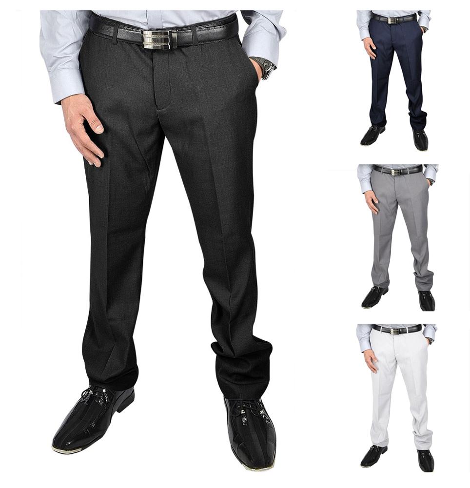 Moda Di Raza- Men's Pant Slim Fit Fashion Formal Work Wedding Party Dress Pants