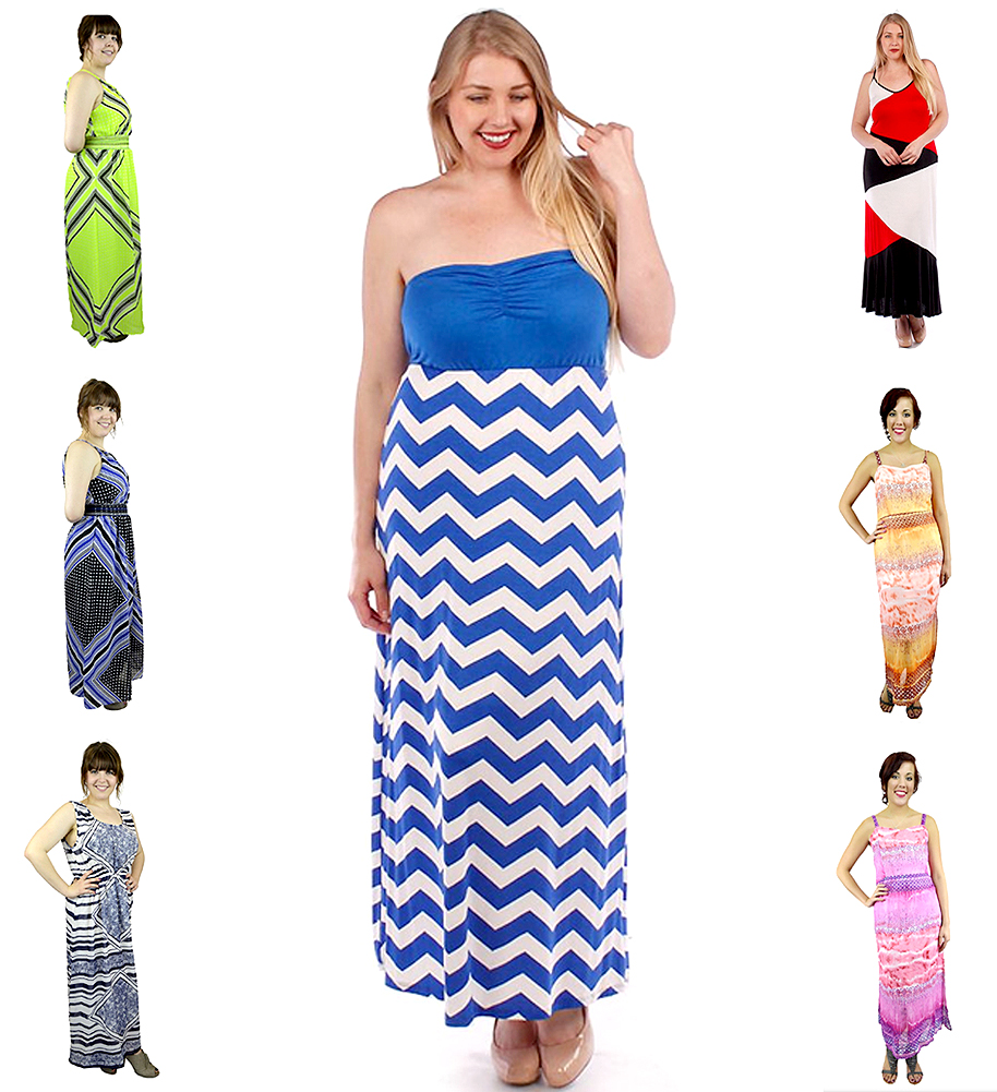 Belle Donne Women's Plus Size Maxi Dresses Cute Spring Fashion SunDress