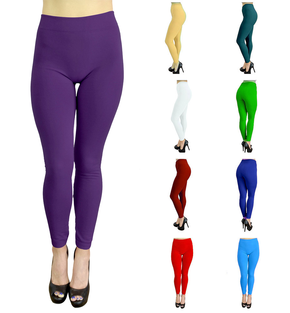 93e8a54665fa0f Womens Leggings Workout Leggings Yoga Solid Color High Waisted by Belle  Donne