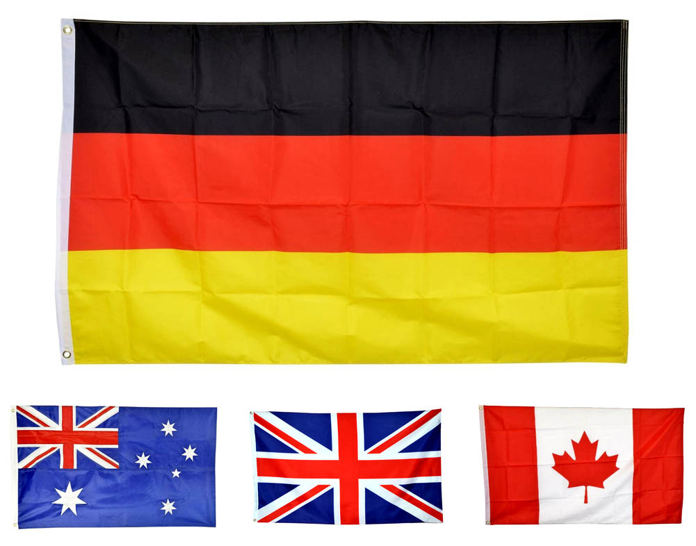 Polyester Print Flags - National Countries - 100D-3X5 Flags