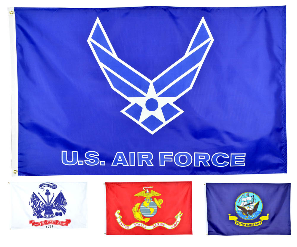 Shop72 - 210D 3 X 5 ft US Armed Forces Flags Outdoors/ Indoors