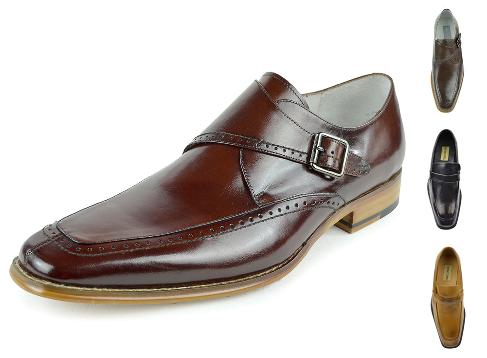 Moda Di Raza-Men's Classic Slip On Loafer Business Leather Dress Shoes