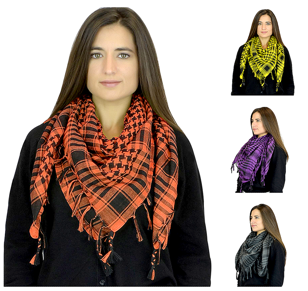 Women's Trendy Soft Houndstooth Square Shawl Scarf