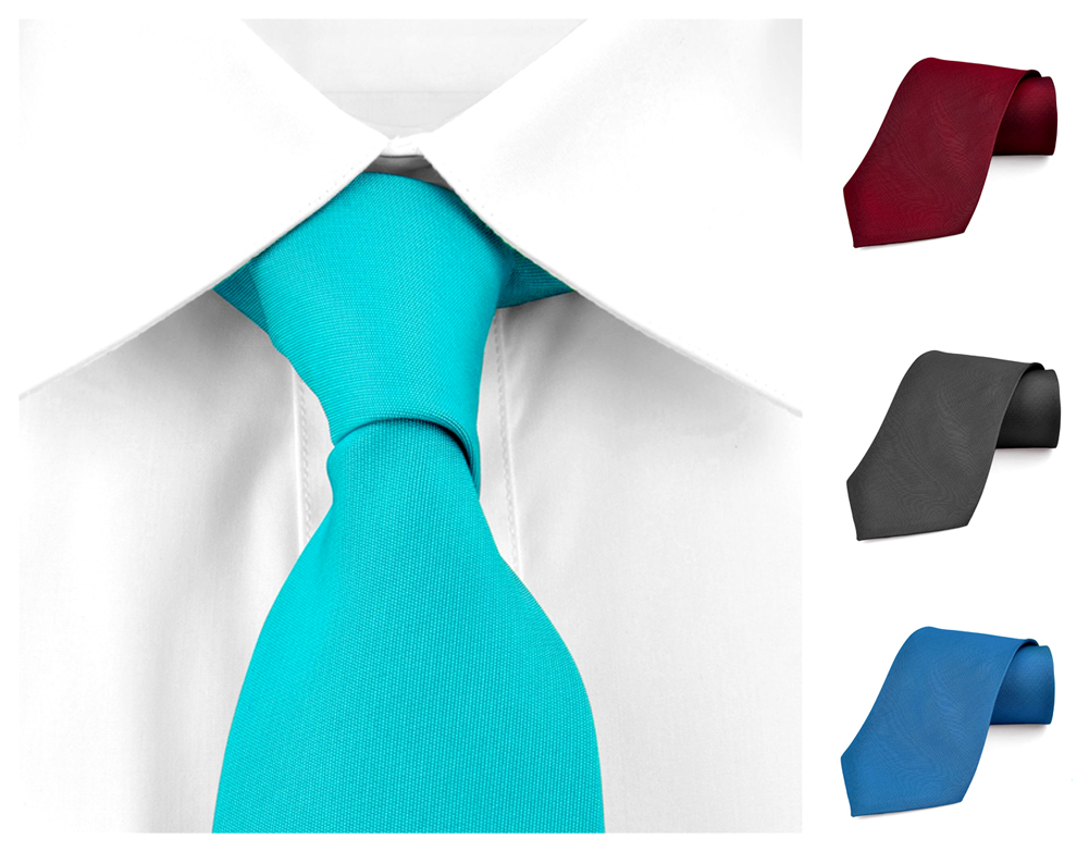 Ties For Men Necktie Polyester Satin Silk Finish Neck tie - Dabung