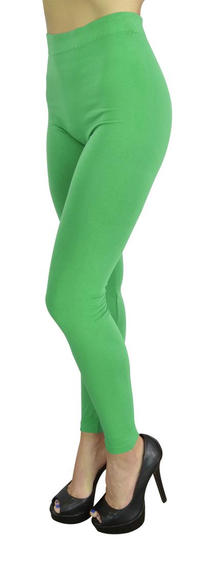 High Waist Leggings for Women Fashion, Gym, Yoga or Casual - 10 Trendy Colors - Regular Size - KellyGreen