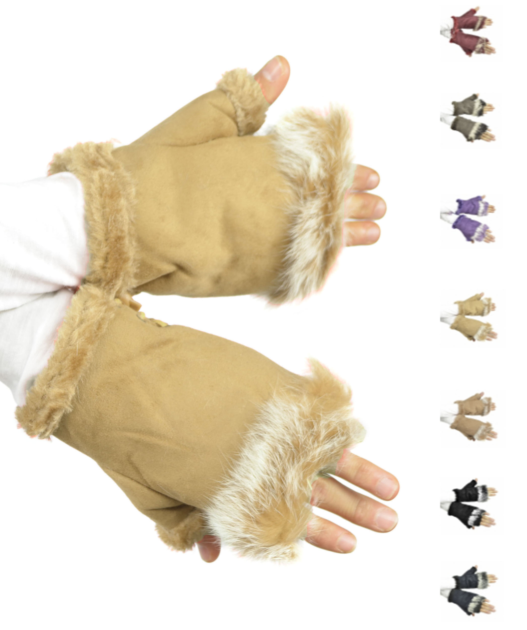 Belle Donne - Women's Warm Fingerless Soft Gloves Many Styles n Colors