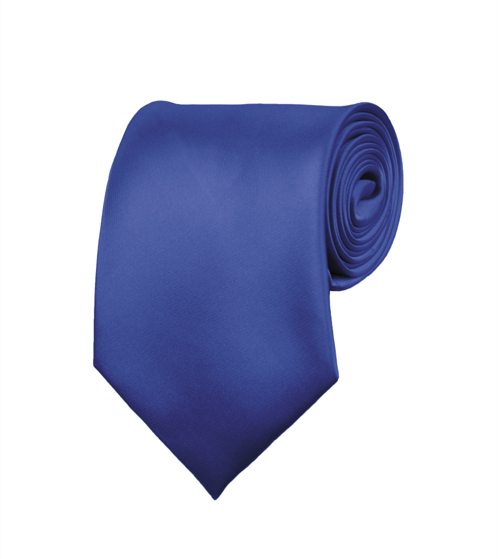 "Mens Neckties - Solid Color Ties - Multiple Colors - Classic 3.5"" width Long Ties by Moda Di Raza - Royal"