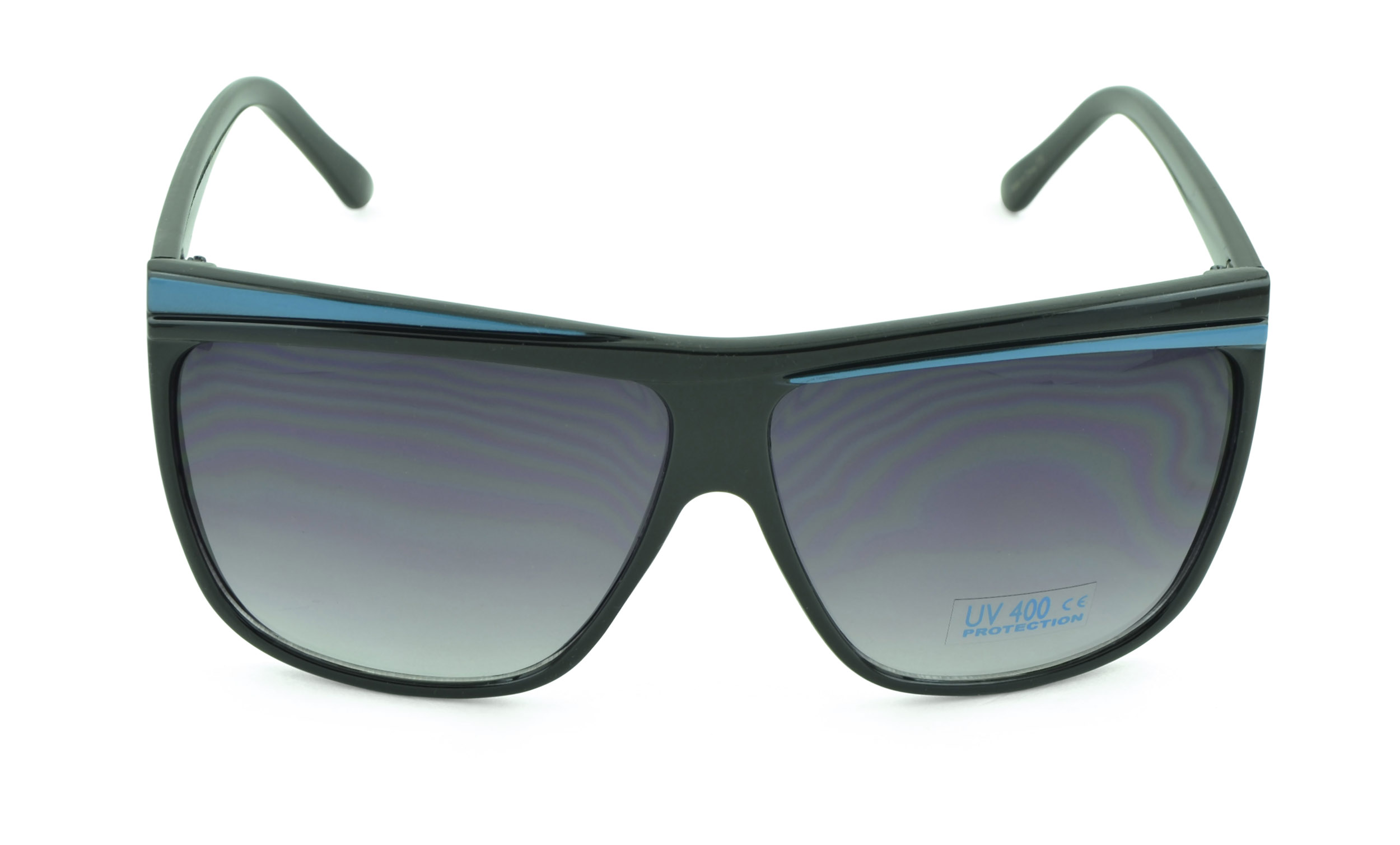 Belle Donne - Unisex Modern Bold Fashion UV Lens Sunglasses- Teal Accent