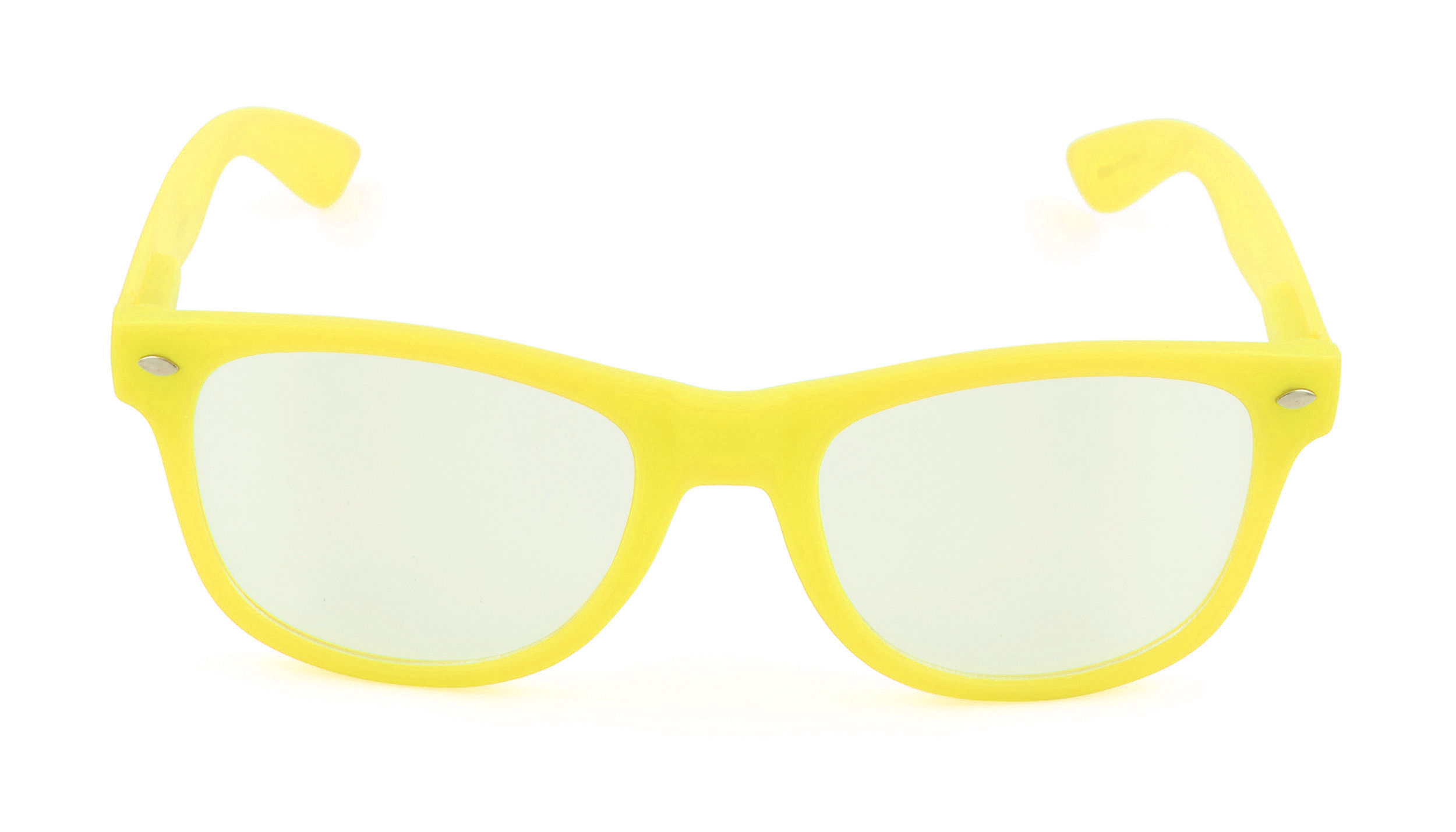 Belle Donne - Unisex Cool Rave Style Glow in the Dark Sunglasses - Yellow