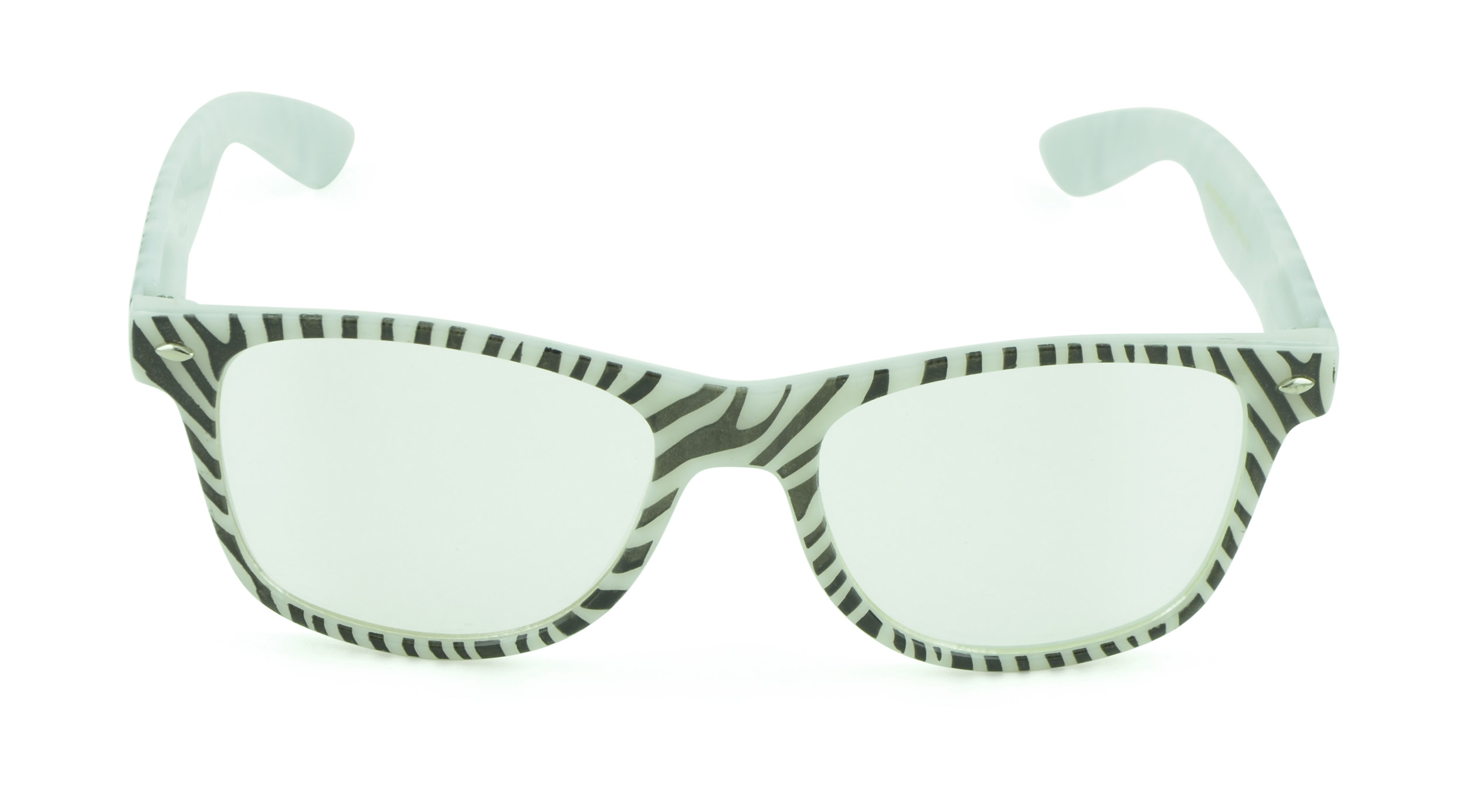 Belle Donne - Unisex Cool Rave Style Glow in the Dark Sunglasses - White Zebra