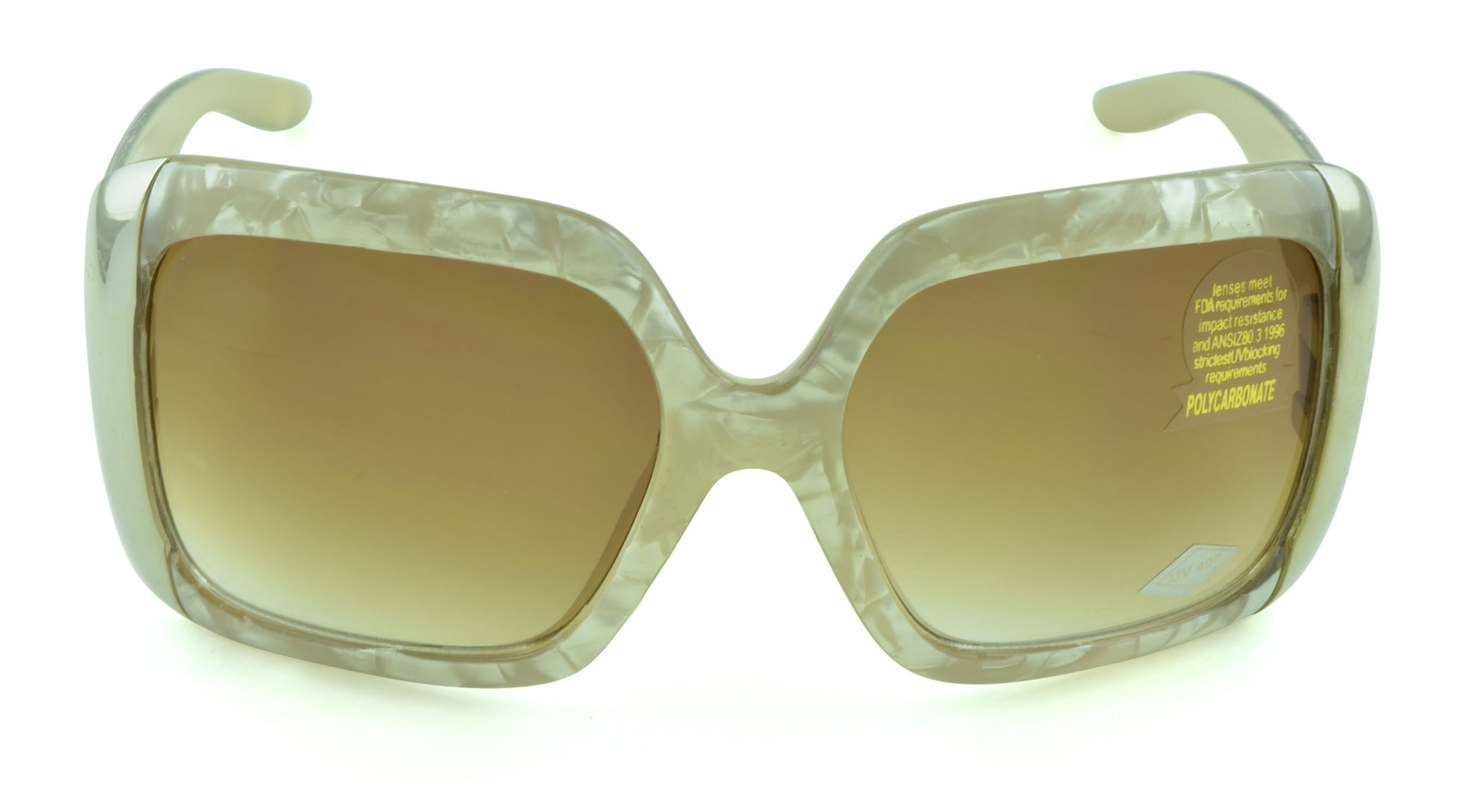 Belle Donne- Oversize Large Women's Fashion Celebrity Sunglasses - Clear Butterfly Oversized Sunglasses for Women and Girls - Trendy Ladies Sunglasses - UV Protection - Polarized - Ivory