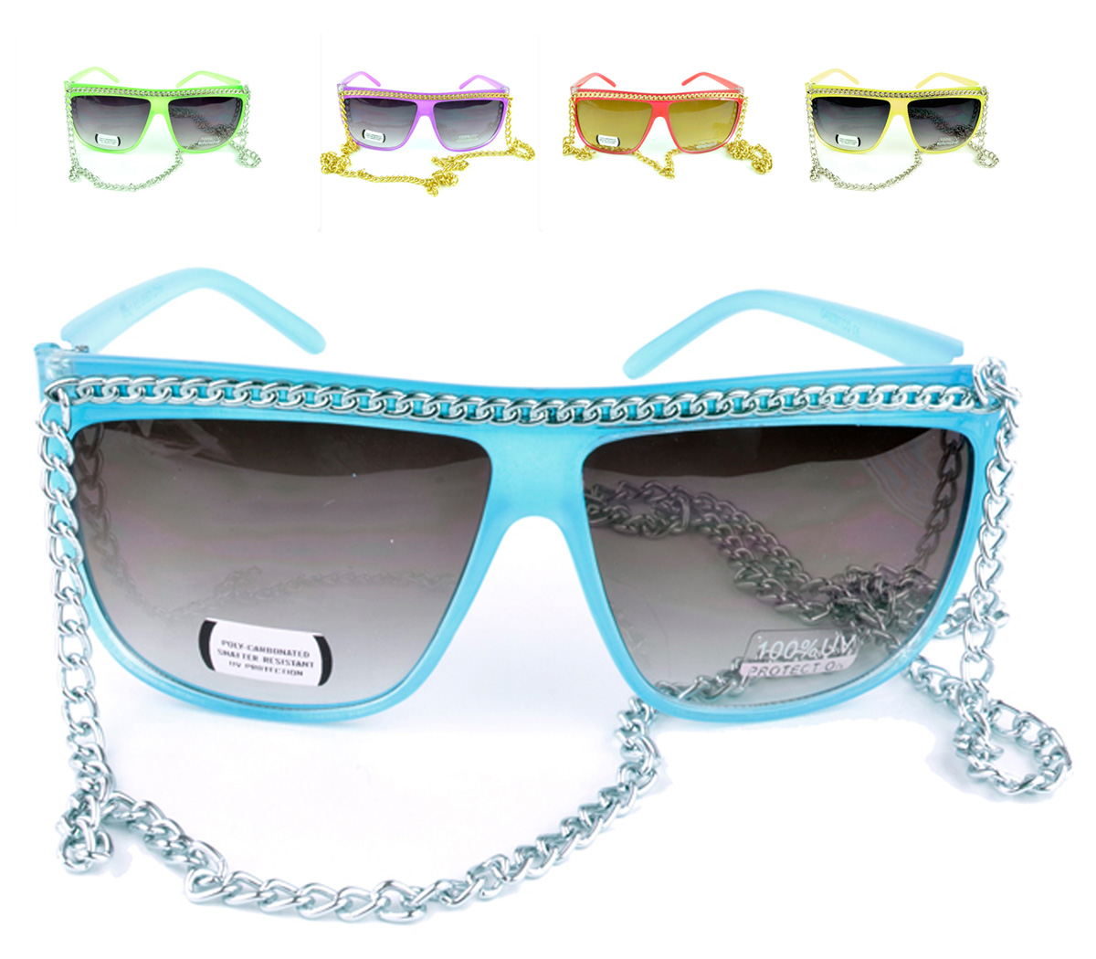 Belle Donne - Women's Hot Celebrity Style Chain Fashion Sunglasses