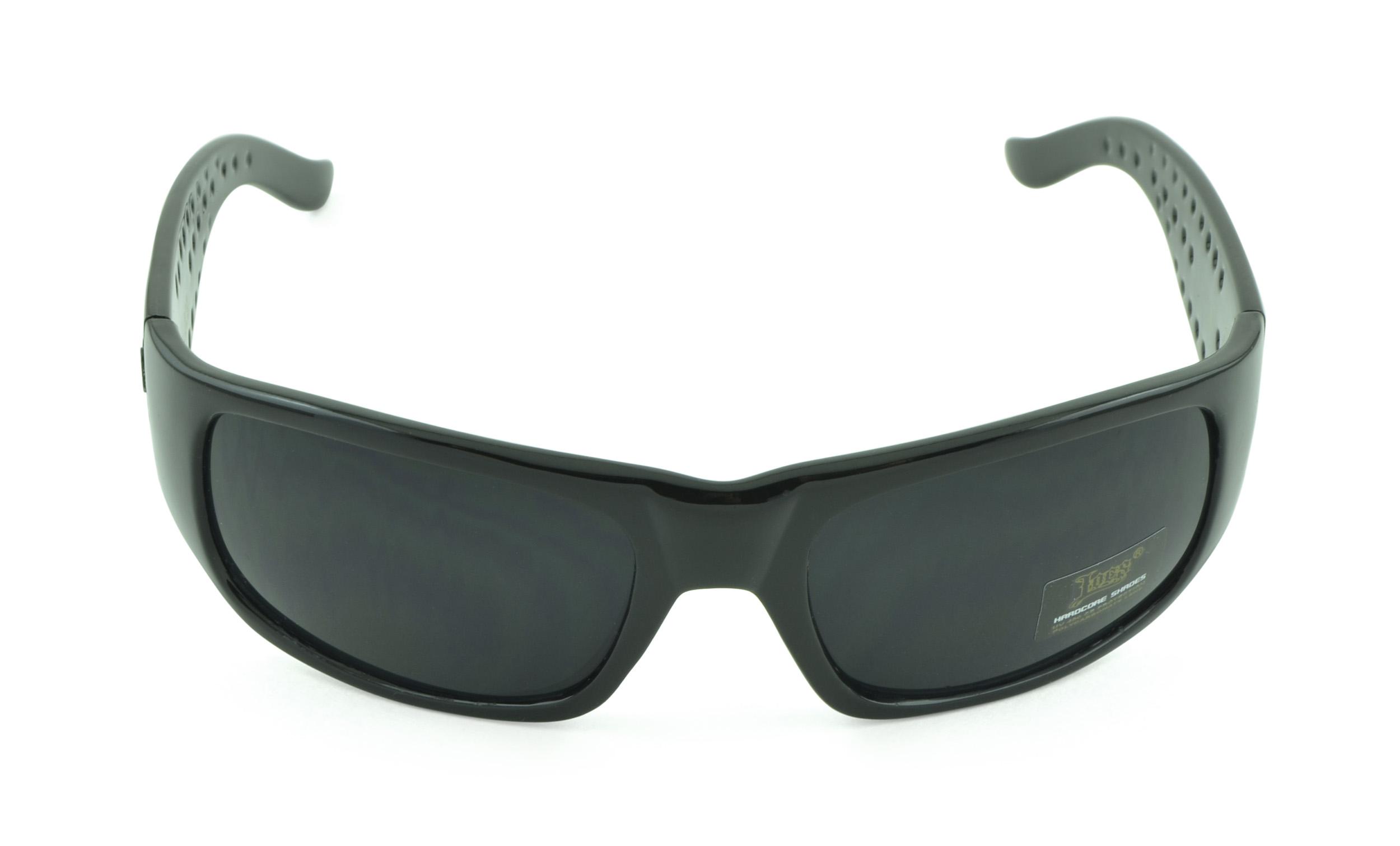 Belle Donne- Trendy Mens and Womens Hardcore Dark Lens Sunglasses-Black-Gloss